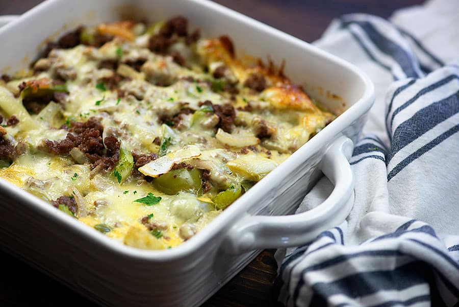 Philly Cheese Steak Casserole
