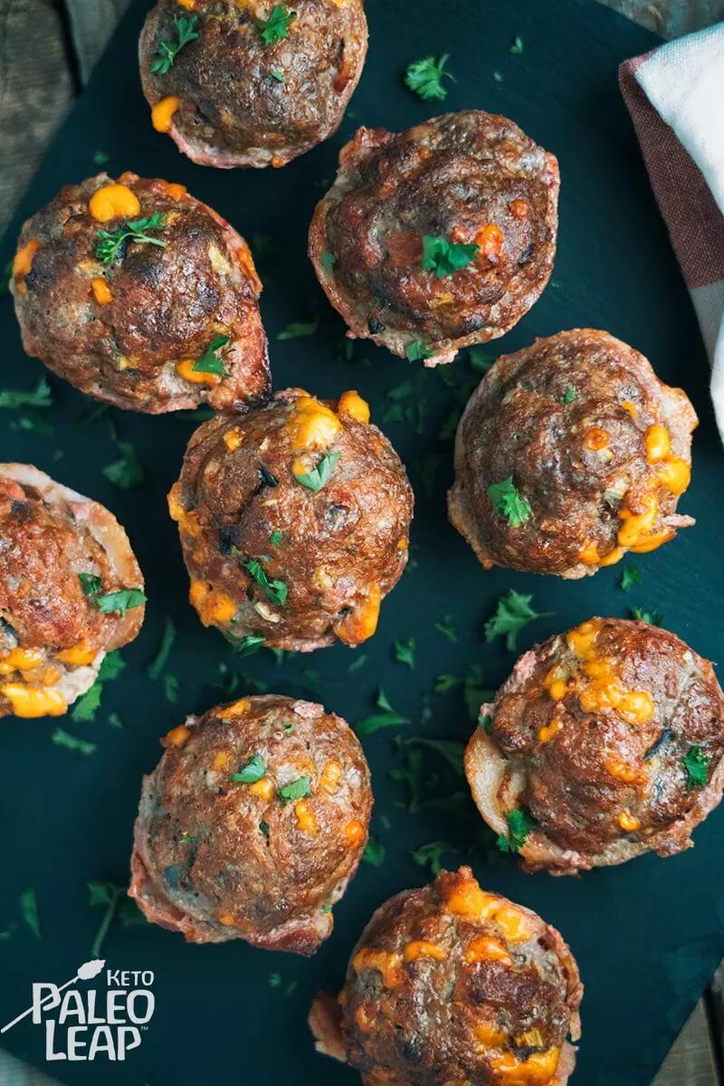 Keto Mini Cheeseburger Meatloves