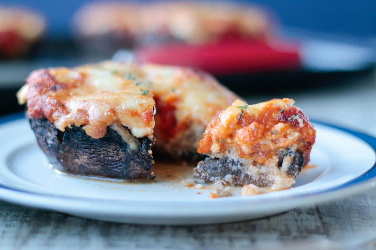 Easy Keto Lasagna Stuffed Portobellos