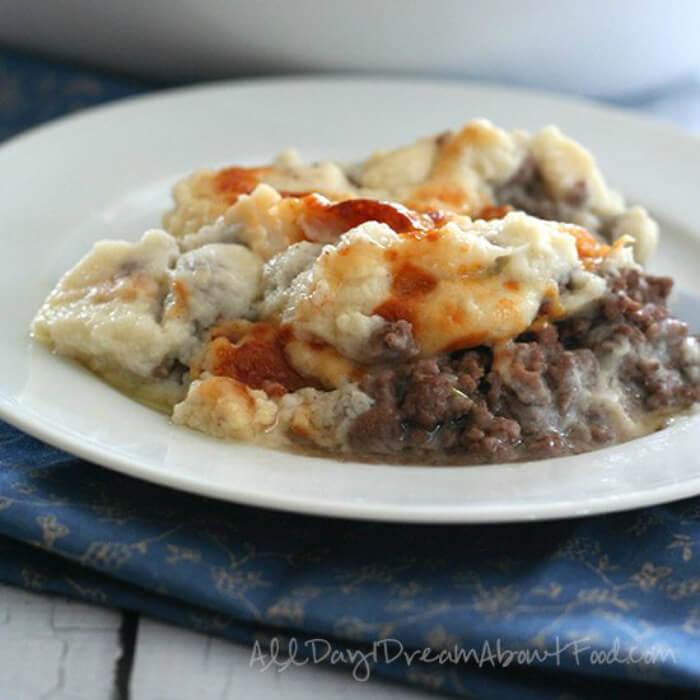 Low Carb Cauliflower Shepherd's Pie - Keto Ground Beef Recipes