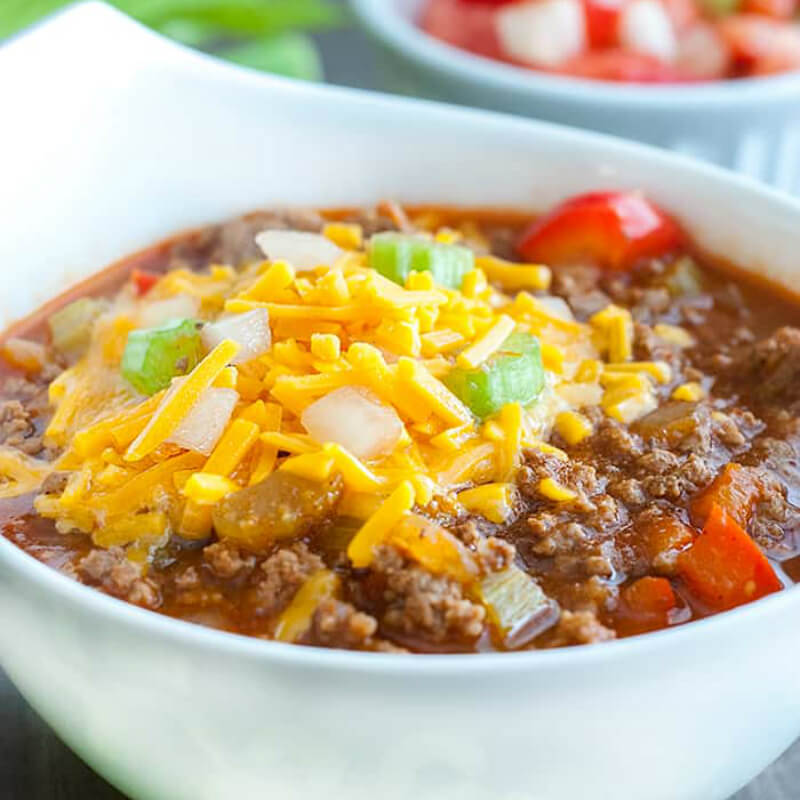 Low Carb Chili - Keto Ground Beef Recipes