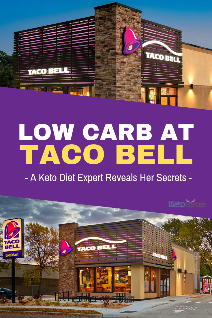 If you\'ve been wondering if you can order low carb at taco bell, prepare to be pleasantly surprised. Here a keto diet expert reveals her secrets. Keto, low carb, and gluten-free options are plentiful at Taco Bell. Breakfast, lunch, dinner, and even the famous fourth meal are covered here. Menu options abound! Save this handy guide by pinning it now. #ketorestaurant #ketolunch #lowcarblunch #lowcarbdinner #lchfdiet