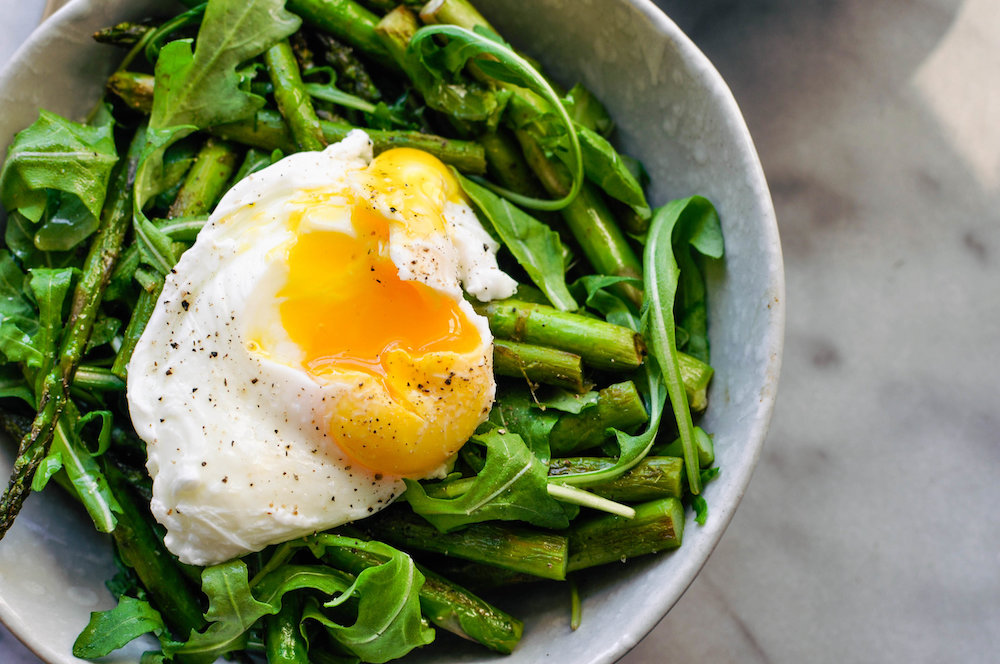 Arugula, Asparagus & A Poached Egg