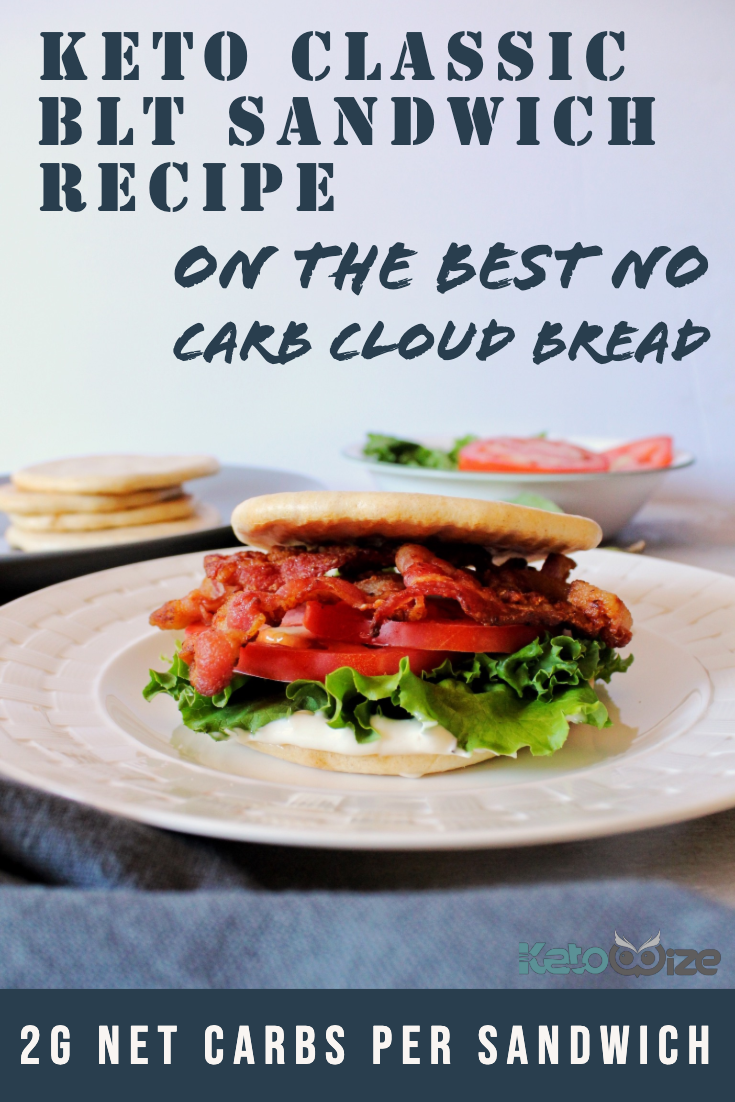 Keto BLT Sandwich Recipe On The Best No Carb Cloud Bread