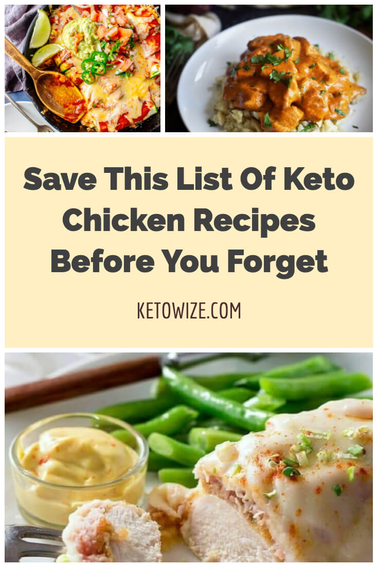 Keto Chicken Recipes Collage For Pinterest