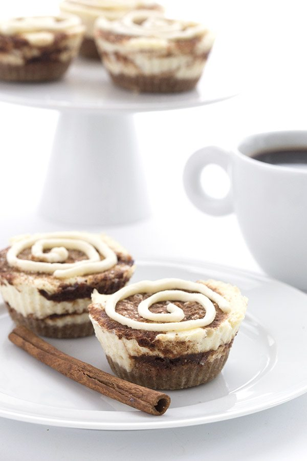 Mini Cinnamon Roll Cheesecakes - Keto Dessert Recipe