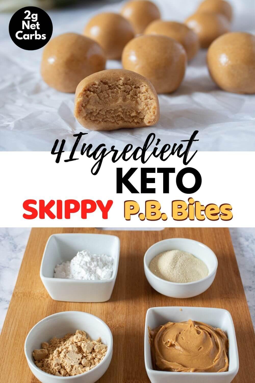 4 Ingredient Keto Skippy PB Bites Recipe