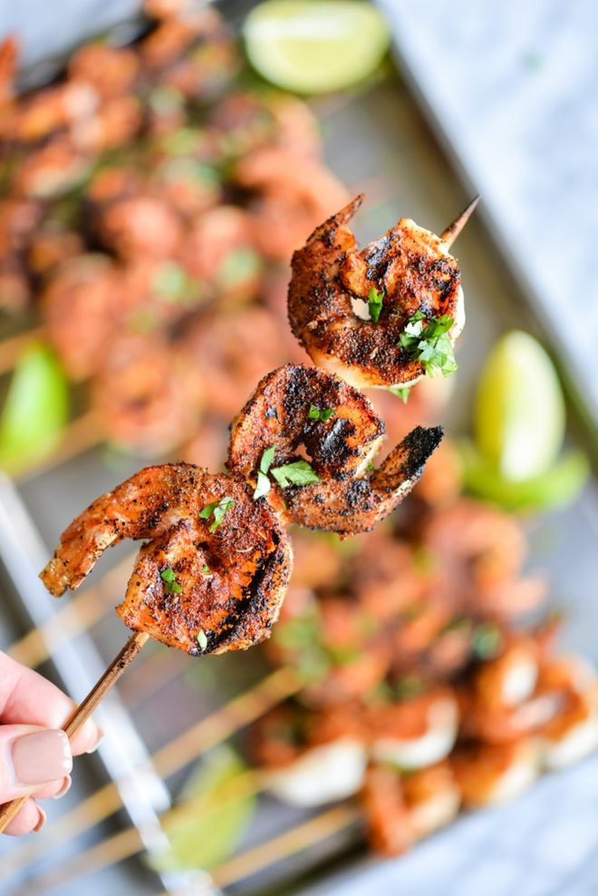 Blackened Shrimp Skewers - Keto Recipe
