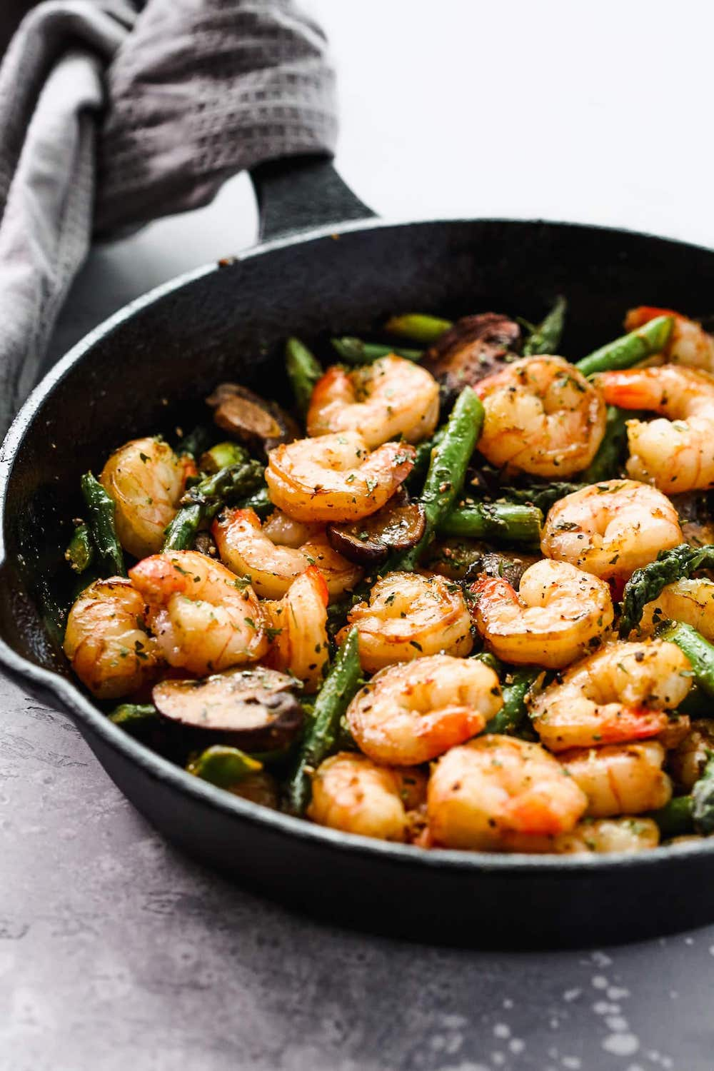 Garlic Shrimp Asparagus Skillet Keto Recipe